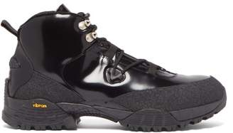 Alyx Patent-leather Hiking Boots - Mens - Black