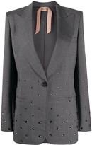 No.21 Embellished Button-Front Blazer