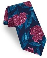 Ted Baker Men's Large Medallion Print Silk Tie