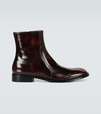 Maison Margiela Leather zipped boots