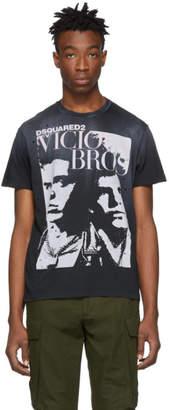 DSQUARED2 Black Vicious Bros Cigarette Fit T-Shirt