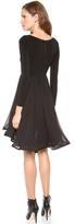 Alice + Olivia Jaye Long Sleeve Babydoll Dress