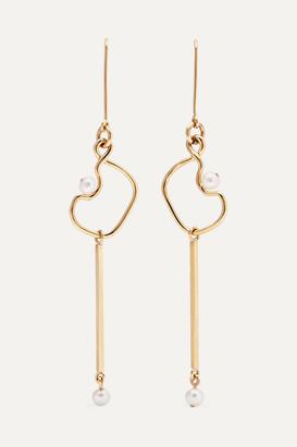 MEADOWLARK Clio 9-karat Gold Pearl Earrings - one size