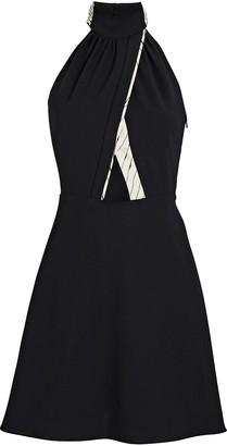 Victoria Victoria Beckham Crepe Halter Mini Dress