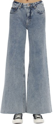 Filles a papa Cotton Denim Jeans W/ Heart Patch