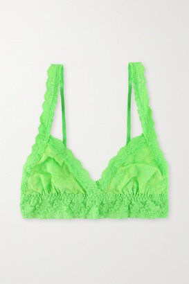 Hanky Panky Signature Stretch-lace Soft-cup Triangle Bralette - Green