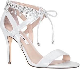 Nina Jeweled Ankle High Heel Sandals - Collina