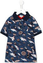 Paul Smith multi print polo shirt