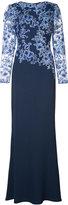 Tadashi Shoji lace floral dress - women - Nylon/Polyester/Rayon - 6