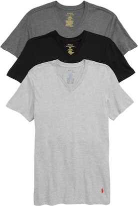 Polo Ralph Lauren 3-Pack Slim Fit V-Neck T-Shirts