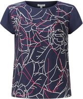 Jigsaw Floral Contours Silk Front Tee