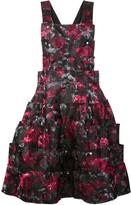 Comme des Garcons angular floral print dungarees - women - Silk/Cotton/Polyester/Triacetate - S