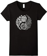 "Women's Official ""Yin Yang Good and Evil"" Epic Gaming Dice T-shirt Small"