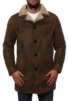 Neil Barrett Men's Brown Leather Outerwear Jacket.