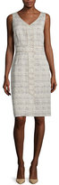 Lafayette 148 New York Farren Sleeveless Sheath Dress, Khaki/Multi