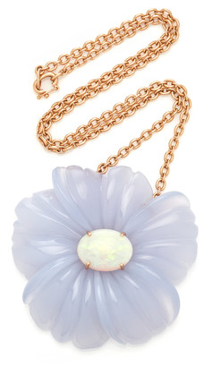 Irene Neuwirth 18K Rose Gold Chalcedony Opal Necklace