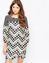 Traffic People Checkmate Shift Dress