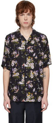 Davi Paris Black Adeline Short Sleeve Shirt