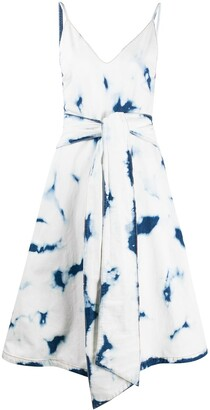 MSGM Tie-Dye Belted Dress