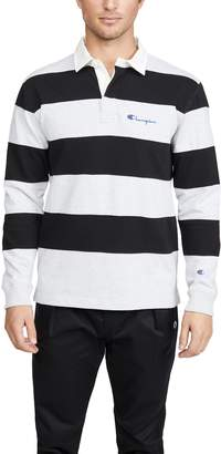 Champion Striped Long Sleeve Polo Shirt