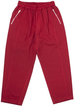 Comme des Garcons Red Wool Trousers