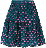 Kenzo geometric print skirt - women - Silk - 40