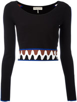 Emilio Pucci wave pullover crop top - women - Polyester/Viscose - M