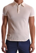 Andrew Mackenzie Men's Beige Cotton Polo Shirt.