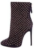 Alaia Grommet-Embellished Suede Boots