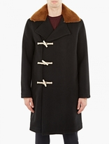 Our Legacy Black Double-breasted Duffle Coat