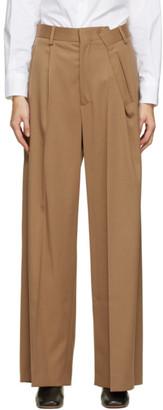 MM6 MAISON MARGIELA Beige Fold Over Trousers