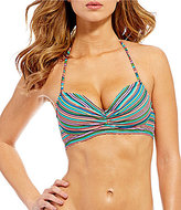 Coco Rave Musical Stripe Nixie Bra Size Underwire Bandeau Top