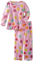 Sara's Prints Girls 2-6X Lollypop Ruffle Top And Pant