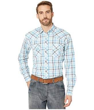 Wrangler 20X Long Sleeve Competition Plaid Snap