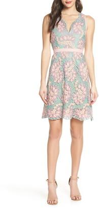 Foxiedox Jasmine Lace Fit & Flare Dress