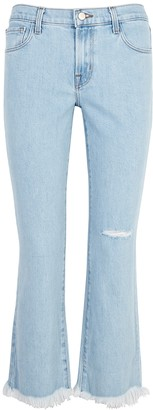 J Brand Selena Light Blue Bootleg Jeans