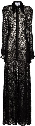 Natasha Zinko Lace Long-Sleeve Maxi Dress