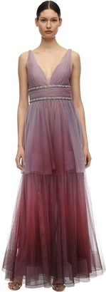 Marchesa Gradient Tulle Gown