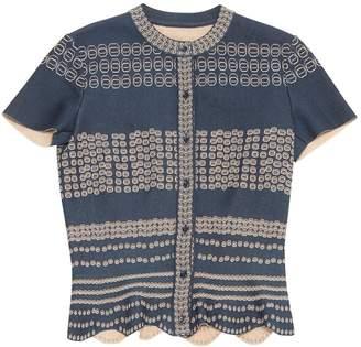 Alaia Blue Viscose Knitwear