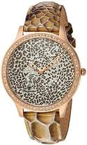 Burgmeister Women's Quartz Watch with Beige Dial Analogue Display and Brown Leather Bracelet BM805-395