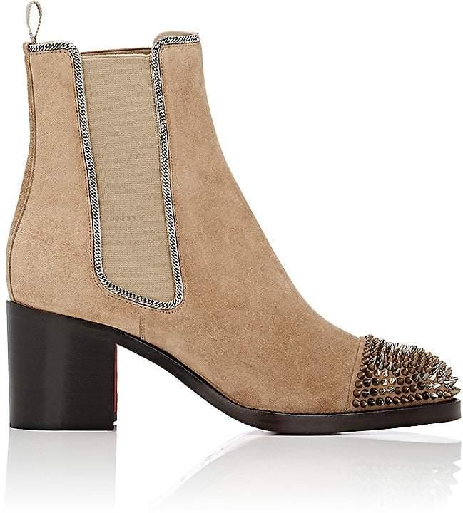 Christian Louboutin Women's Otaboo Suede Chelsea Boots