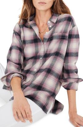 Madewell Lenore Plaid Oversize Flannel Ex-Boyfriend Shirt