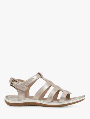 Geox Women's Vega Wide Fit Suede Sandals, Sand