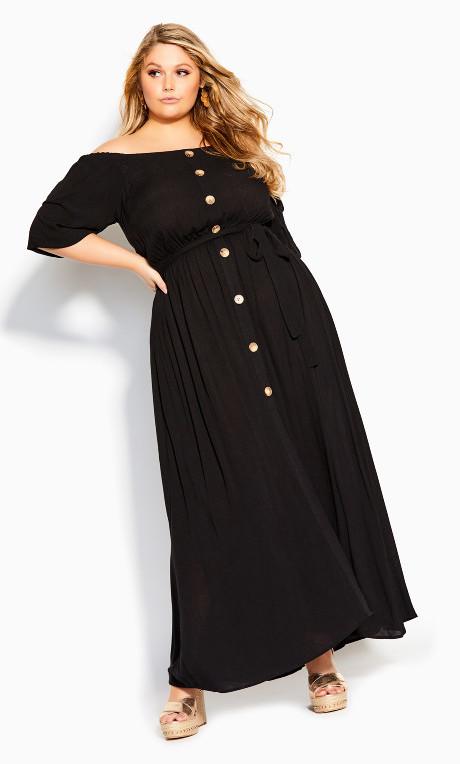 City Chic Exotic Love Maxi Dress - black