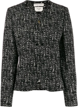 Bottega Veneta Sweetheart Neckline Tweed Jacket