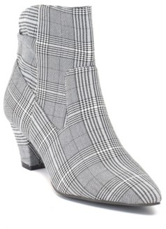 GC Shoes Levi Cone Heeled Plaid Ankle Boot Women's Shoes