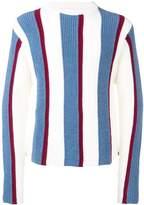 Thom Browne Wide Intarsia Repp Stripe Pullover