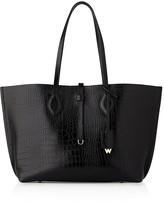 Whistles Regent Shiny Croc-Embossed Leather Tote