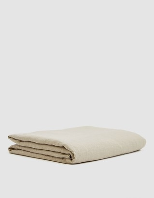 Hawkins New York King Size Simple Linen Flat Sheet in Flax