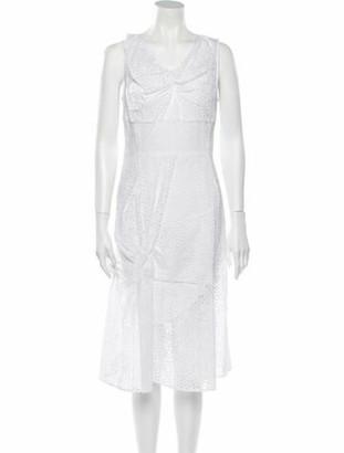 Oscar de la Renta 2016 Midi Length Dress w/ Tags White